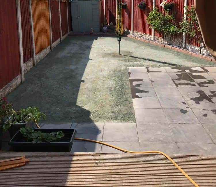 Flattened ready for artificial grass